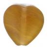 Glass Pressed Beads 10x10mm Heart Olive Matt